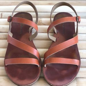 Lucky Brand Brown Leather Sandals